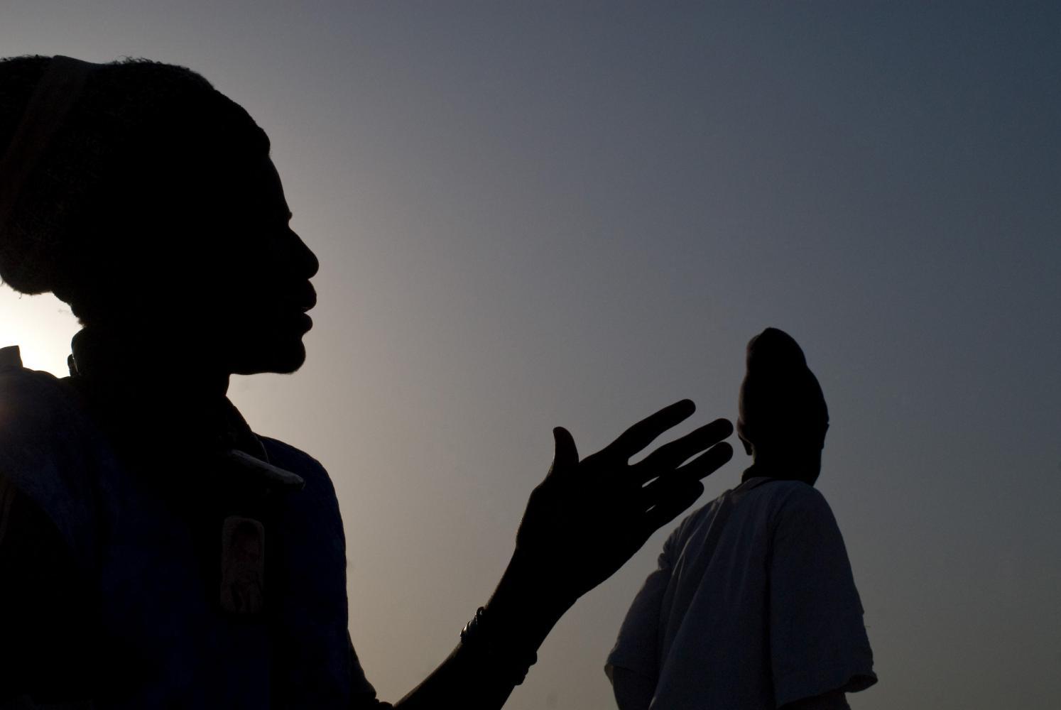 <p>Le jour du baptême de Mame Fallou, Hamdi. Ndindy, Sénégal, février 2010.</p>